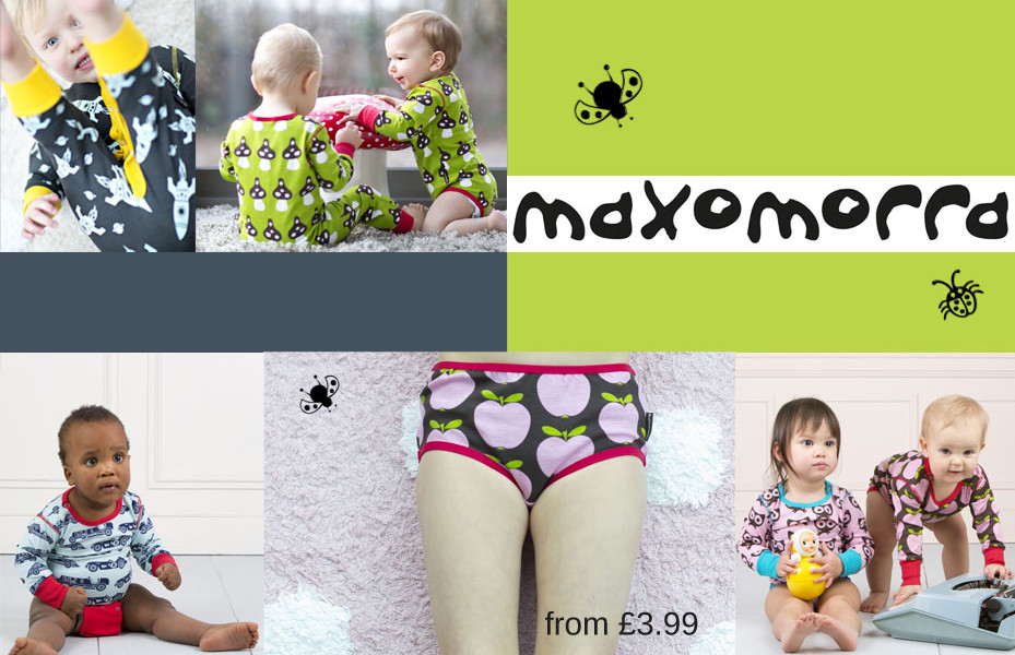 Maxomorra bright kid's clothes
