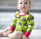 Maxomorra ~ Unisex organic cotton mushroom design long sleeve vest
