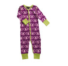 Maxomorra ~ Girls organic cotton purple Pomegranate rompersuit