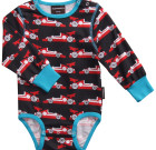 Maxomorra ~ Boys formula 1 organic cotton long sleeve bodysuit