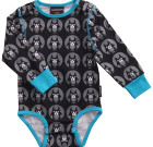 Maxomorra ~ Unisex dogs organic cotton long sleeve bodysuit