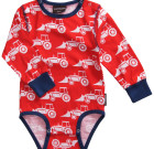 Maxomorra ~ Boys red tractors organic cotton long sleeve bodysuit