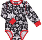 Maxomorra ~ Unisex Stars organic cotton long sleeve bodysuit