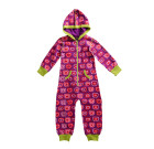 Maxomorra – Girls organic cotton onesie in purple apple design