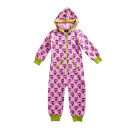 Maxomorra – Girls organic cotton onesie in purple cat design