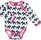 Maxomorra ~ Scottie dog organic cotton long sleeve bodysuit