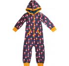 Maxomorra organic cotton onesie pyjamas in Dragon design