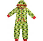 One piece organic pyjamas in green star print – Maxomorra