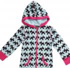 Maxomorra – Organic cotton hooded onesie in Scottie dog print