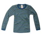 Engel ~ Organic 100% Merino wool long sleeved vests | Sapphire blue & sunshine yellow stripe