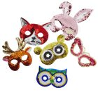 Bright sequin woodland animal masks by RICE dk – Fox | Owl | Deer | Rabbit | Bear |Butterfly