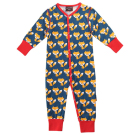 Foxes print sleepsuit by Maxomorra in organic cotton