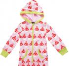 Toadstool print organic pyjamas in onesie style by Maxomorra