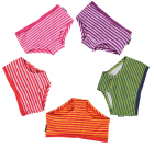 Bright colours striped knickers in organic cotton from Maxomorra