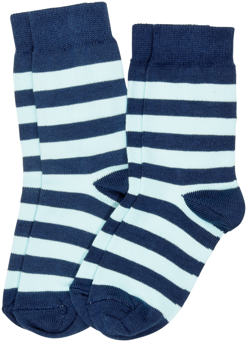 Maxomorra Striped Organic Cotton Unisex Socks For Children