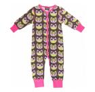 Owl sleepsuit in organic cotton from Maxomorra