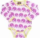 Elephant organic cotton long sleeve vest by Maxomorra