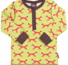 Maxomorra ~ Green foxes print organic cotton long sleeved tops