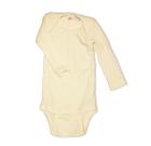 Engel ~ 100% Merino wool organic poppered thermal baby vests   Natural white