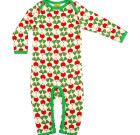 DUNS Sweden Radish print long sleeve romper suit in organic cotton