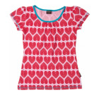 Maxomorra organic cotton ladies hearts print summer top