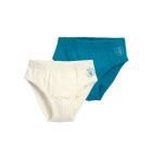 Living crafts ~ Turquoise & White organic cotton underwear 2 packs