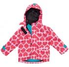 Maxomorra ~ Hearts print waterproof shell jacket