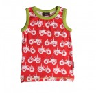 Maxomorra ~ red tractors organic cotton sleeveless vest