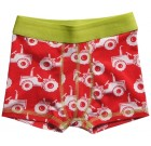 Maxomorra red tractors boxer shorts in organic cotton