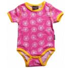 Maxomorra short sleeve dandelion organic poppered baby vest