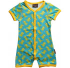 Maxomorra dino organic bright baby shortie romper with poppers
