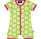 Maxomorra daisy organic baby shortie romper with poppers