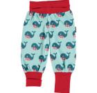 Maxomorra whale organic baby rib pants baby trousers