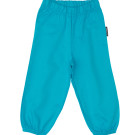 Turquoise baby jogger pants by Maxomorra in organic cotton