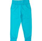 Turquoise organic cotton turquoise sweatpants by Maxomorra