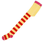 DUNS Sweden organic striped tights in red and yellow