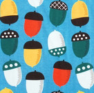 DUNS Sweden organic cotton ladies Blue Acorns print top