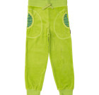 Green organic velour toddler and children's bottoms by Maxomorra