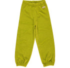 Lime green organic velour toddler and children's bottoms by Maxomorra