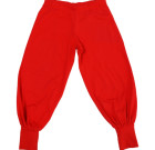 More than a Fling bright plain colour red joggers