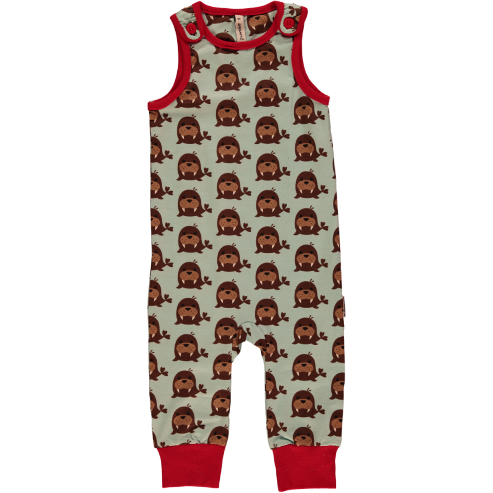7b622e6ae6e Walross playsuit dungarees by Maxomorra in organic cotton