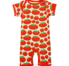 DUNS Sweden organic cotton summer romper suit in tomatoes print
