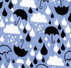 Organic cotton ladies t-shirt in More than a Fling raindrops print (S)