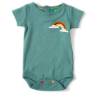 Waterfall Rainbow Pointelle Baby Body by Little Green Radicals