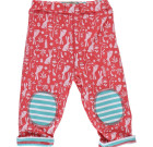 Floral bunny reversible trousers by Piccalilly in organic cotton