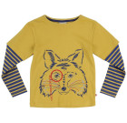 Fox print long sleeve top by Piccalilly in organic cotton