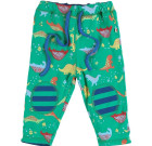 Dinosaur reversible trousers by Piccalilly in organic cotton
