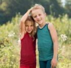 Engel ~ Bright unisex organic Merino wool & silk sleeveless vests | Purple & Red | Ocean & Ice blue