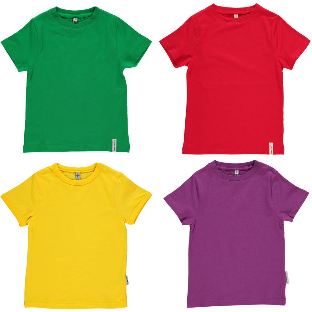 Maxomorra basic organic t-shirt red | yellow | green ...