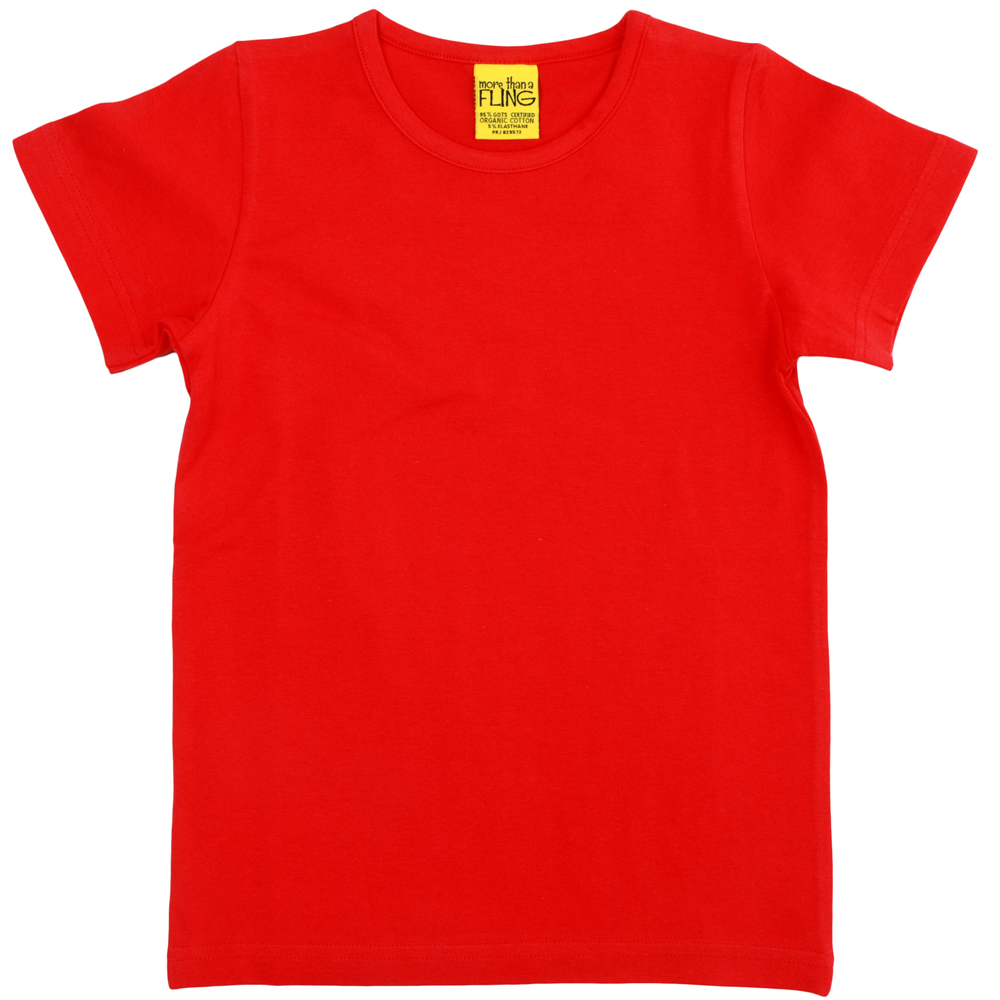 Plain red shirt the image kid has it for The red t shirt company
